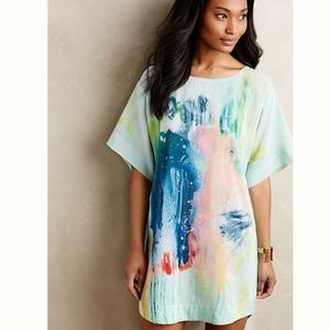 Anthropologie Painted Silk Dress